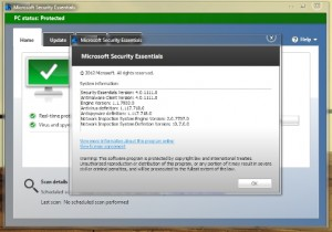 Antivirus Microsoft Security Essentials Free