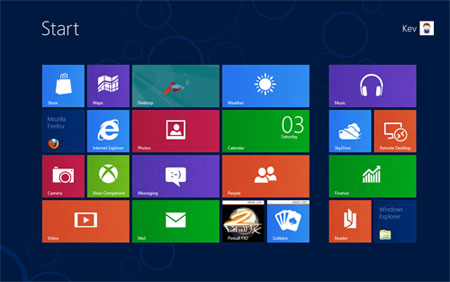 tampilan desktop windows 8