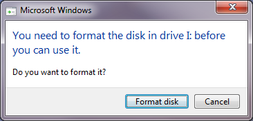 format flashdisk error