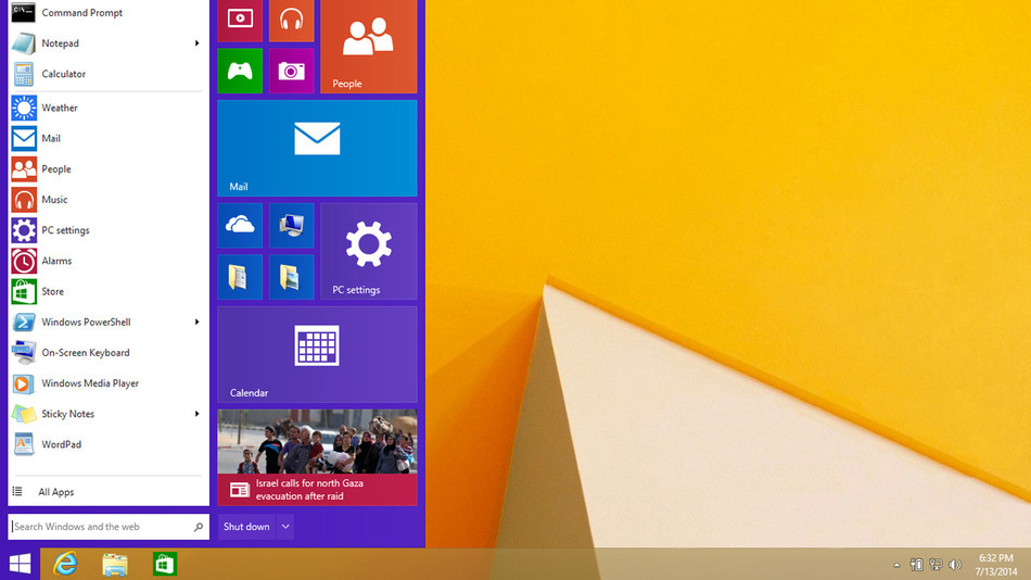 start menu windows 9 terbaru